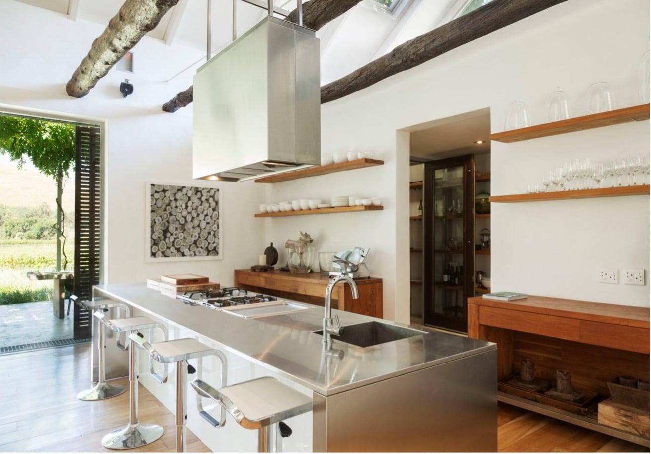 кухненски плот от неръждаема стомана