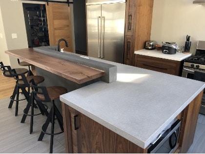 бетонен кухненски плот